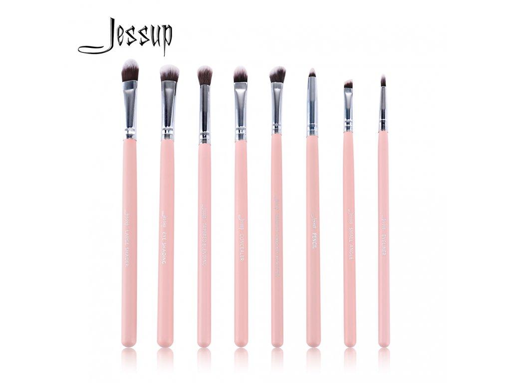 Jessup - Sada 8mi štětců Pink & Silver kit T089T089