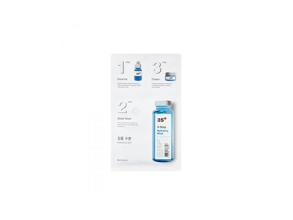 Missha - 3step Hydrating Mask - hydratační maska ve třech krocích