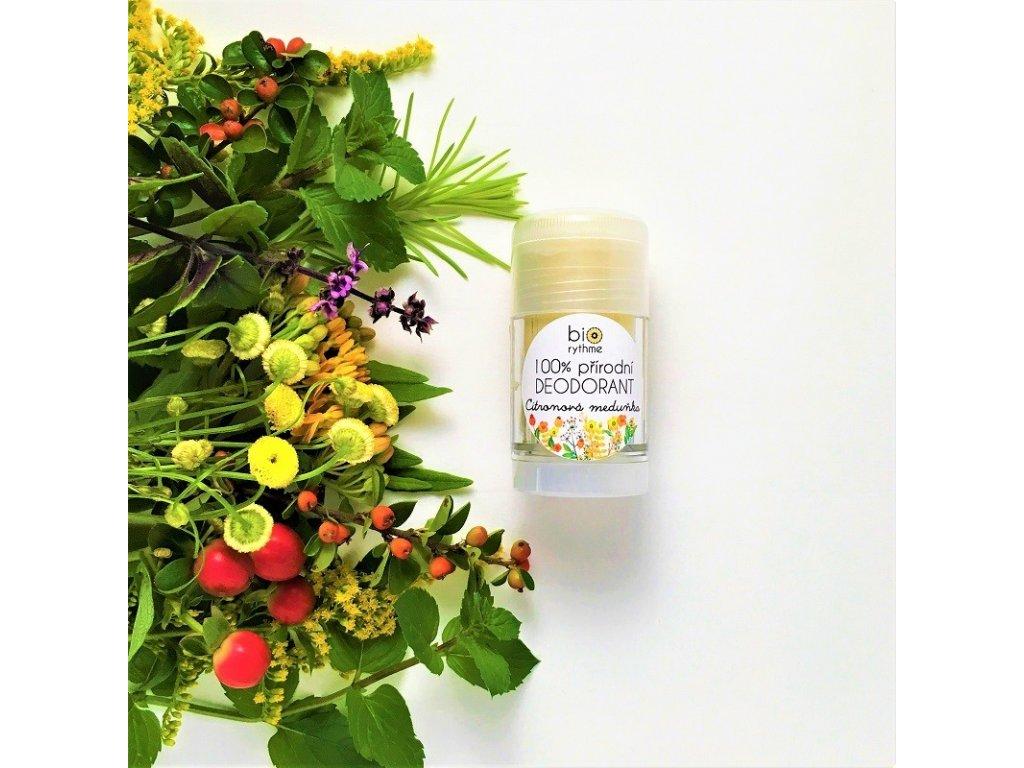 Biorythme 100% přírodní deodorant Citronová meduňka velký