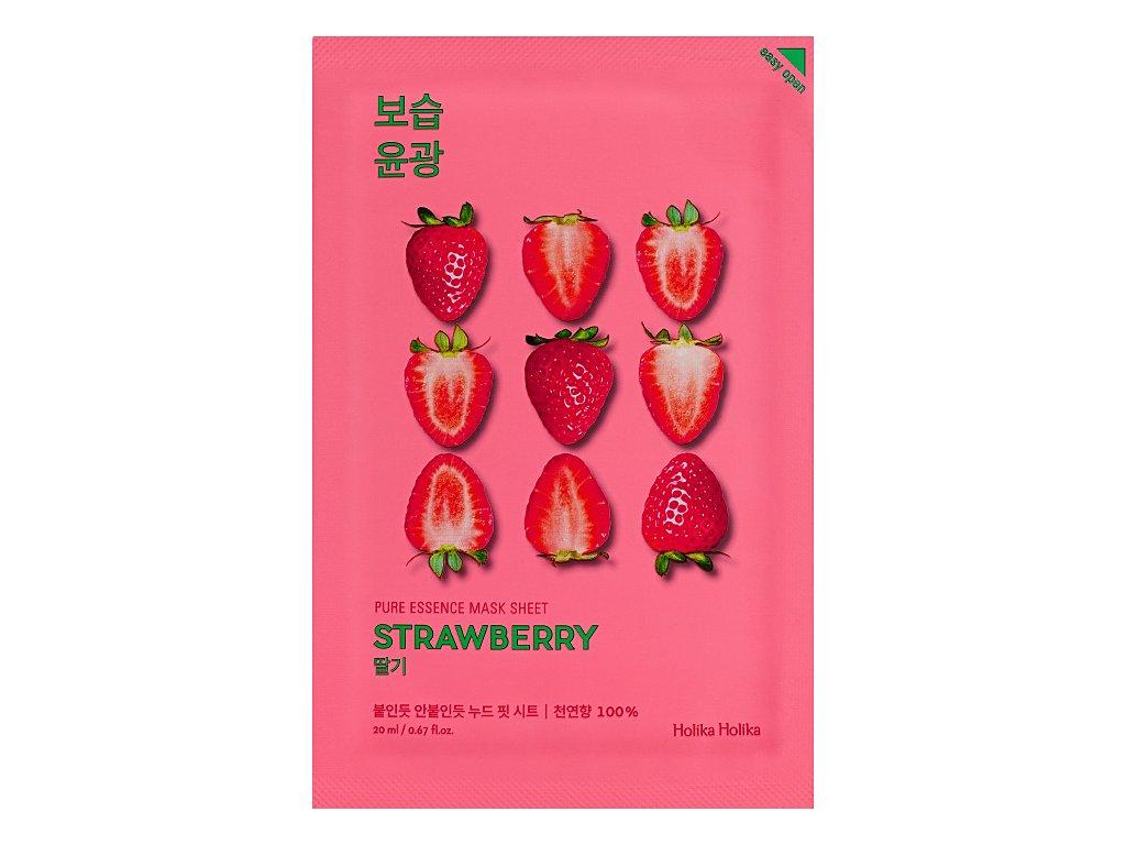 holika holika pure essence mask sheet strawberry