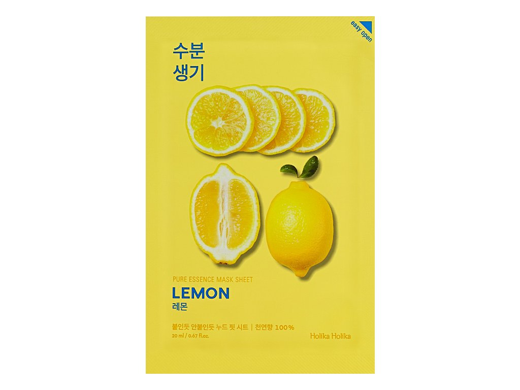 holika holika pure essence mask sheet lemon