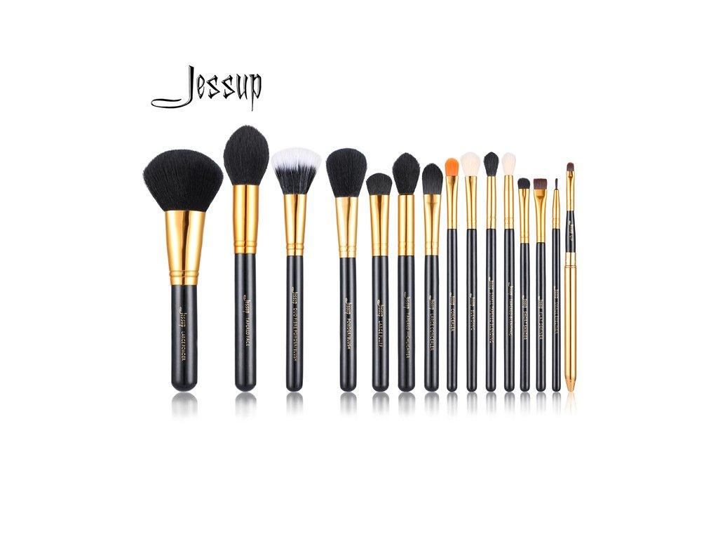 Jessup - Sada 15 štětců Black & Gold kit T093