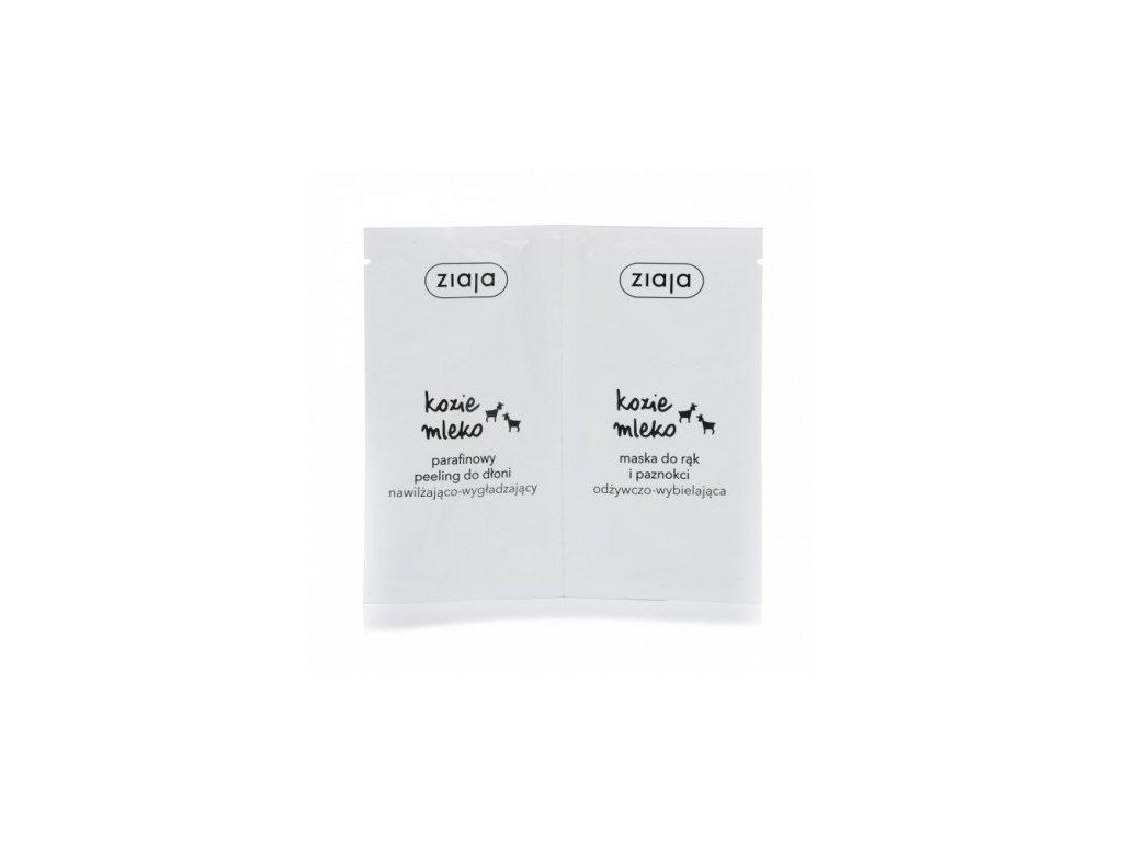 Ziaja - kozí mléko parafínový peeling & maska na ruce 2*7ml