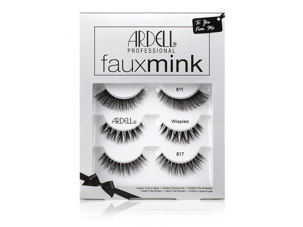 Ardell - Dárková sada nalepovací řasy Faux Mink 3ks
