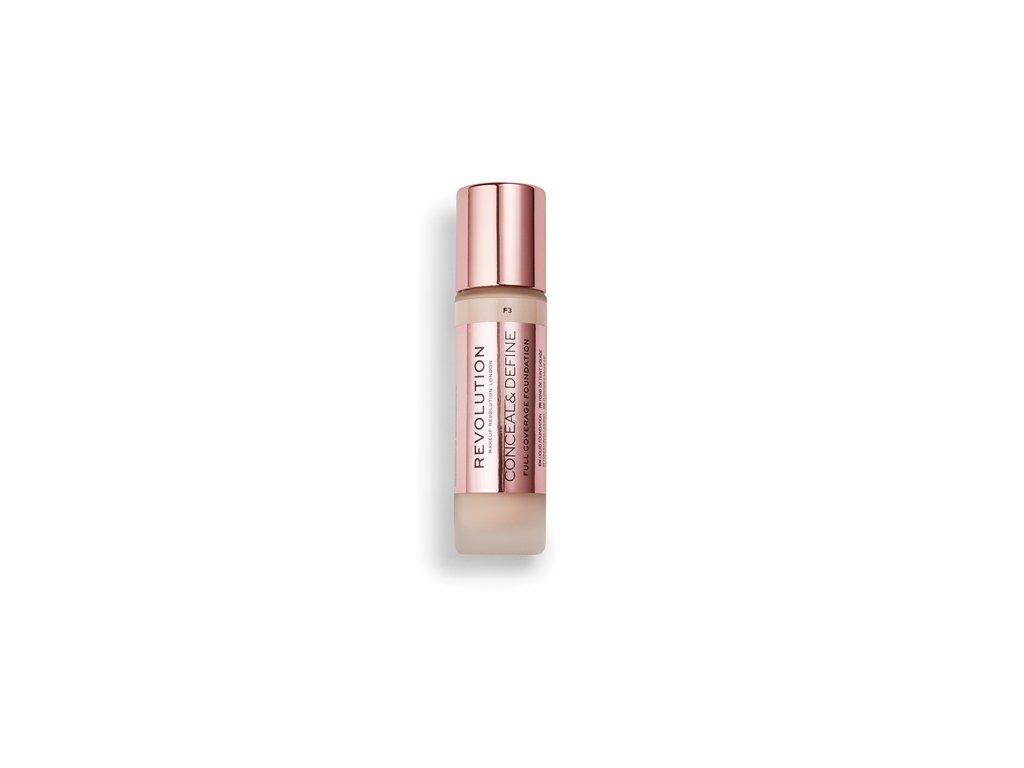 Makeup Revolution - Conceal & Define makeup, odstín F3 13ml