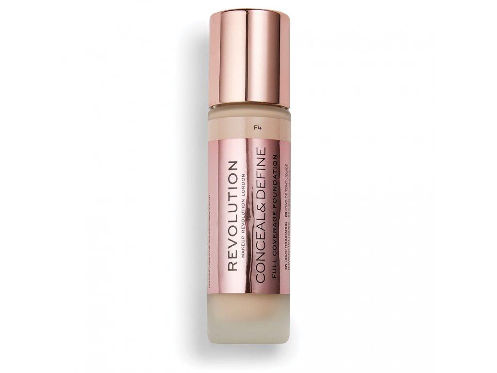 Makeup Revolution - Conceal & Define makeup, odstín F4 13ml