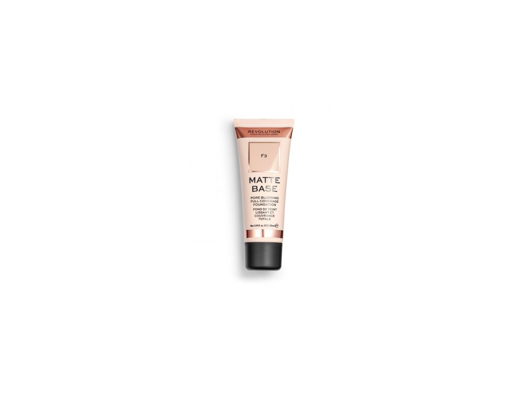 Makeup Revolution - Matte Base Foundation odstín F3