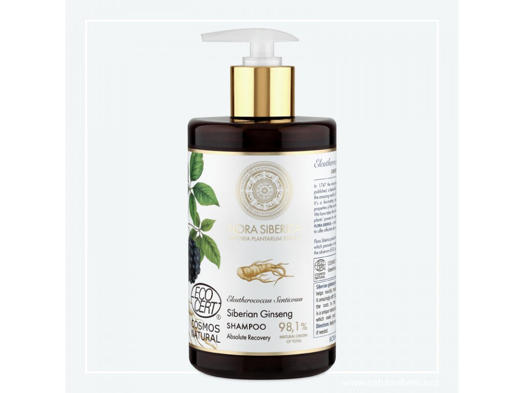 NATURA SIBERICA - Flora Siberica Šampon pro poškozené vlasy – Úplná obnova 480 ml