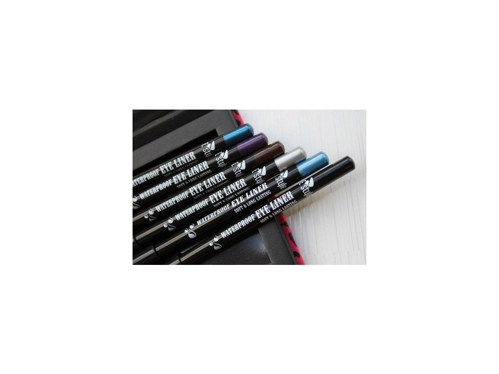 E style - Waterproof Eye Liner voděodolná tužka na oči 06 Silver 1,4 g