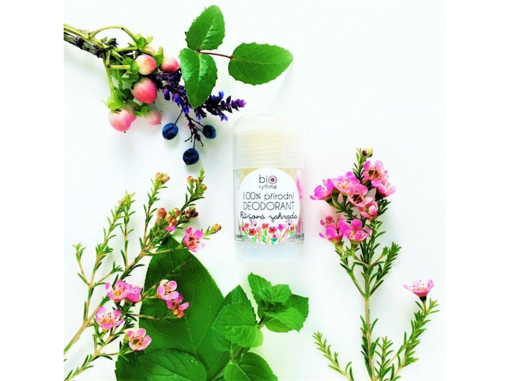 Biorythme - 100% přírodní deodorant Růžová zahrada 30g