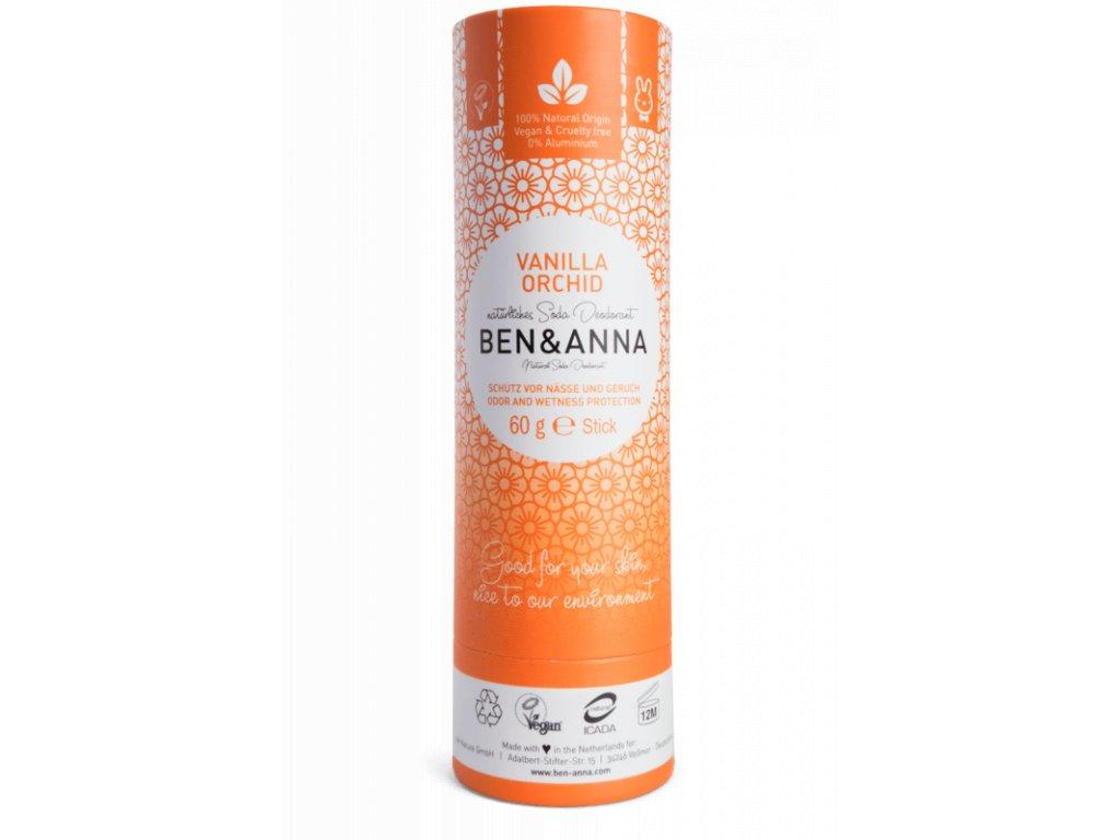Ben & Anna - Tuhý deodorant BIO (60 g) - Vanilková orchidej