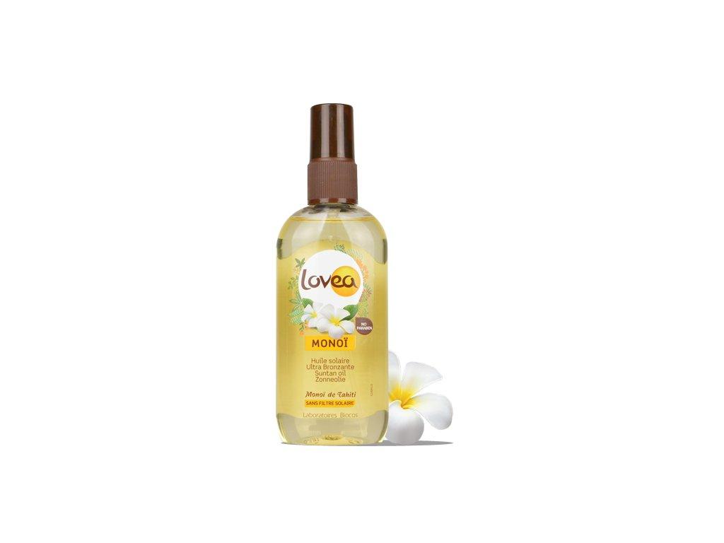 Lovea - Monoi Olej ve spreji urychlující opálení - Bez SPF, 125ml