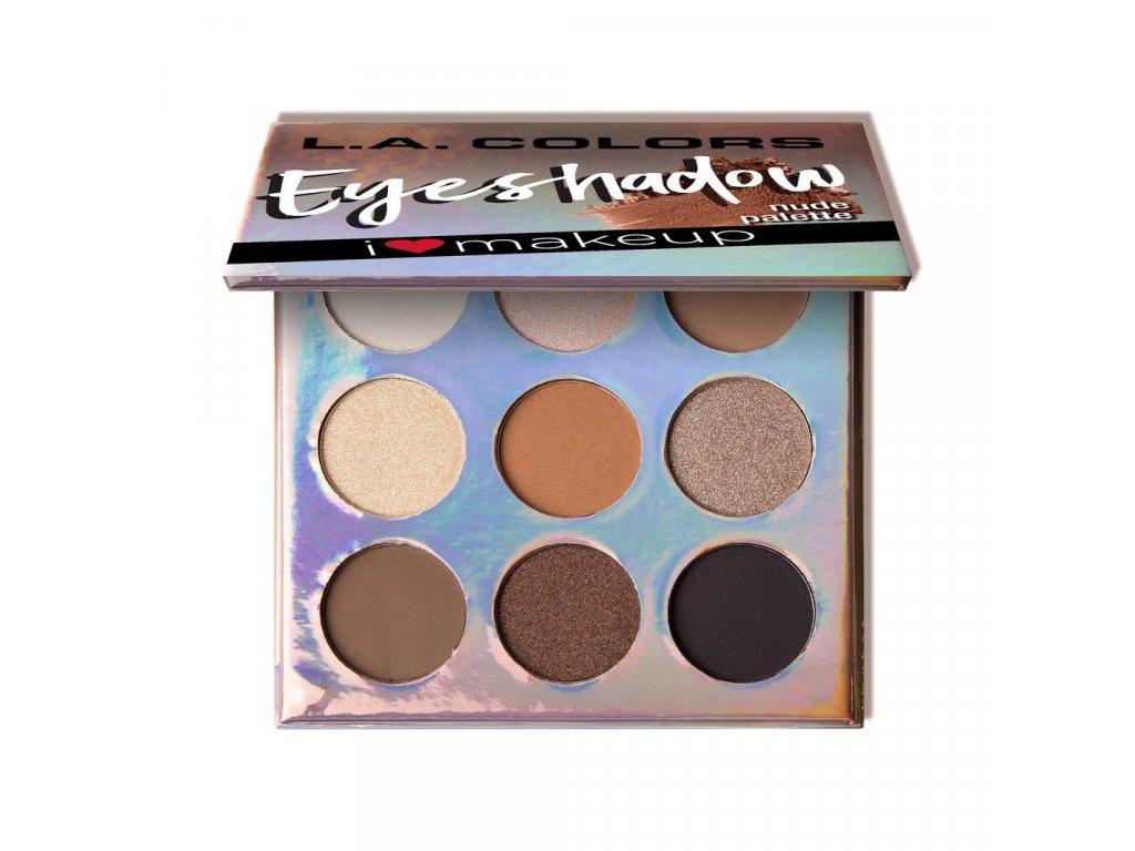 L.A. Colors - Paletka stínů Beauty Booklet NUDE