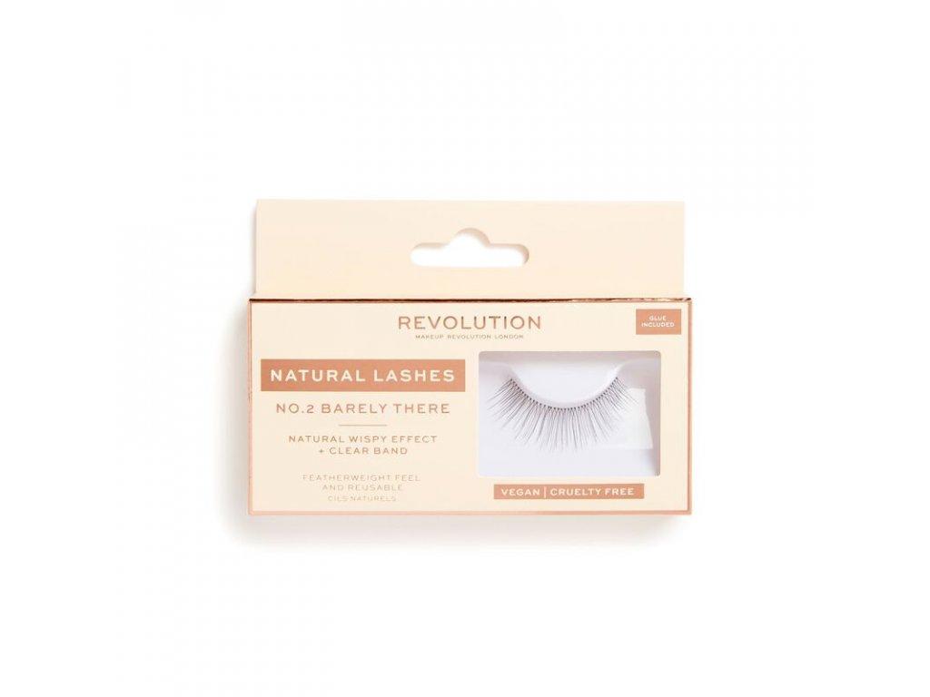 Makeup Revolution - Umělé řasy No.2 Barely There Natural