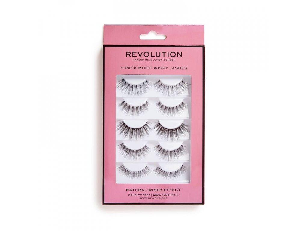 Makeup Revolution - Umělé řasy 5 Pack Mixed Wispy