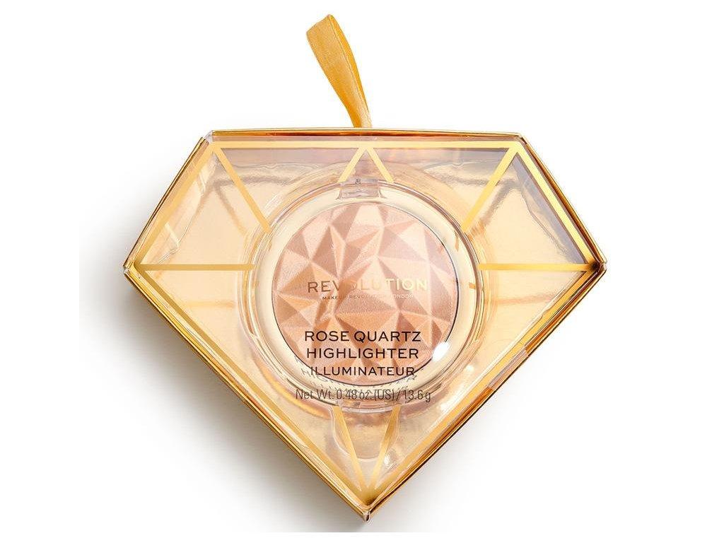 Makeup Revolution - Rozjasňovač Precious Stone Rose Quartz