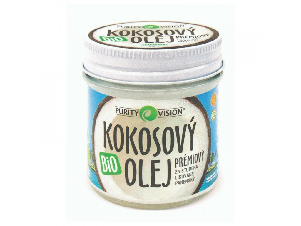 Purity Vision -Fair Trade Kokosový olej panenský BIO 120 ml