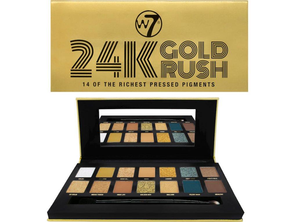 W7 - paletka lisovaných pigmentů 24K Gold Rush