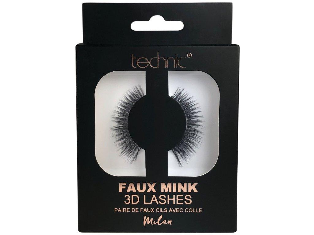 Technic - Umělé řasy 3D Faux Mink Milan
