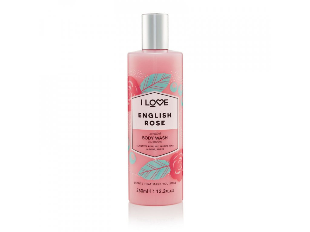 I LOVE - Sprchový gel anglická růže (English rose) 360 ml