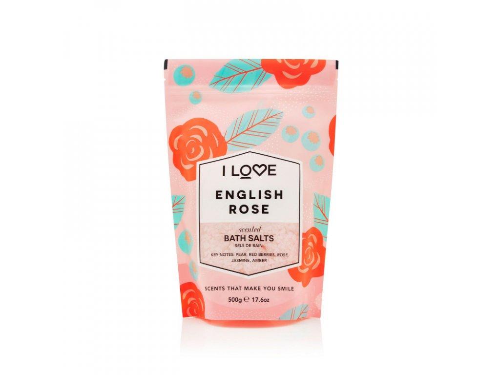 I LOVE - Koupelová sůl anglická růže (English rose) 500g