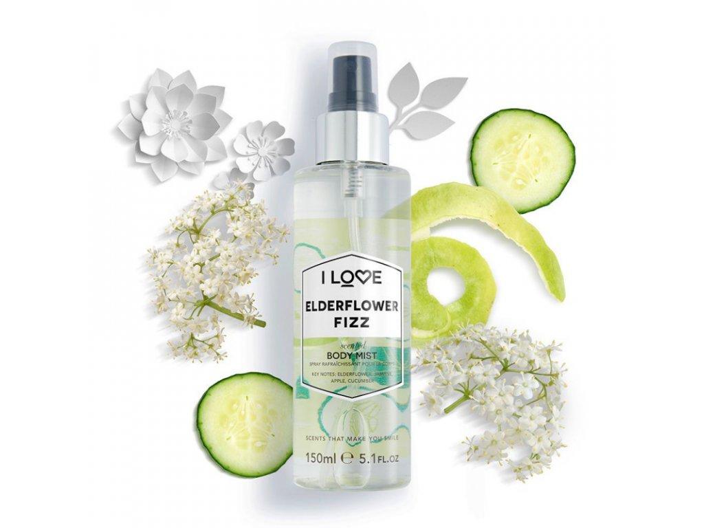 I LOVE - tělový sprej Bezový květ (elderflower fizz) 150ml