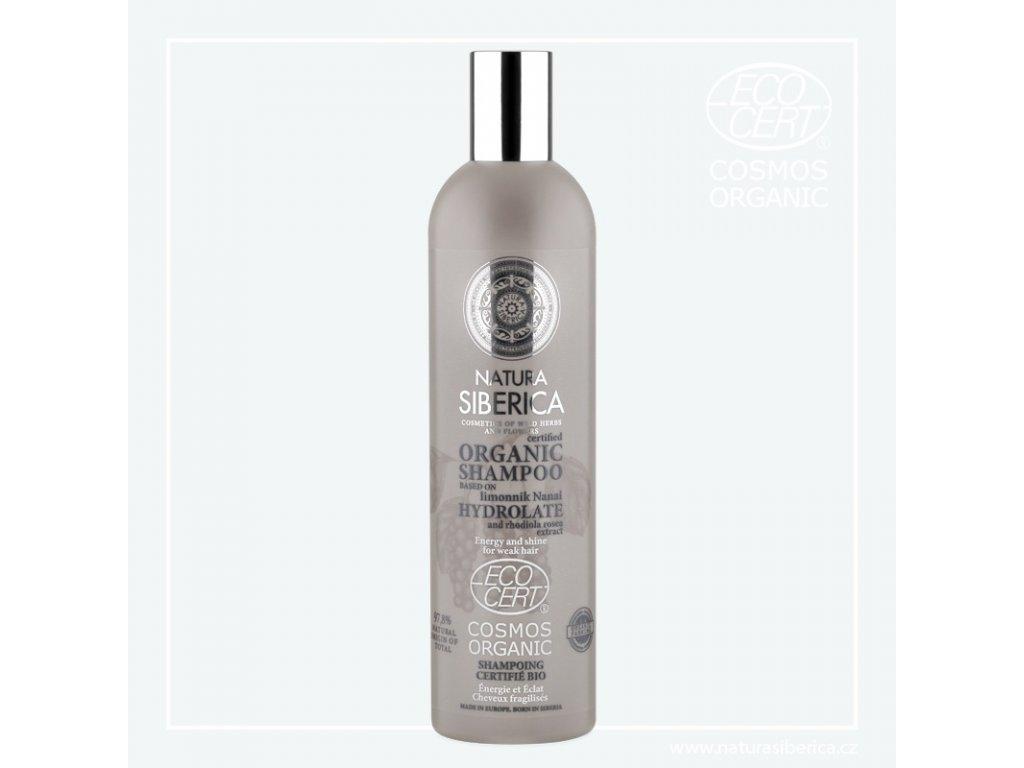 NATURA SIBERICA - BIO Šampon pro oslabené vlasy Vitalita a lesk (s hydroláty)