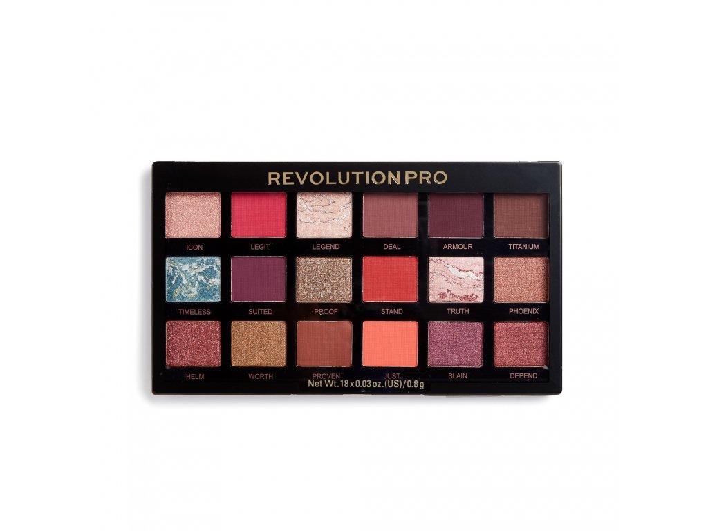 Makeup Revolution PRO - Paletka 18 očních stínů Regeneration Legendary