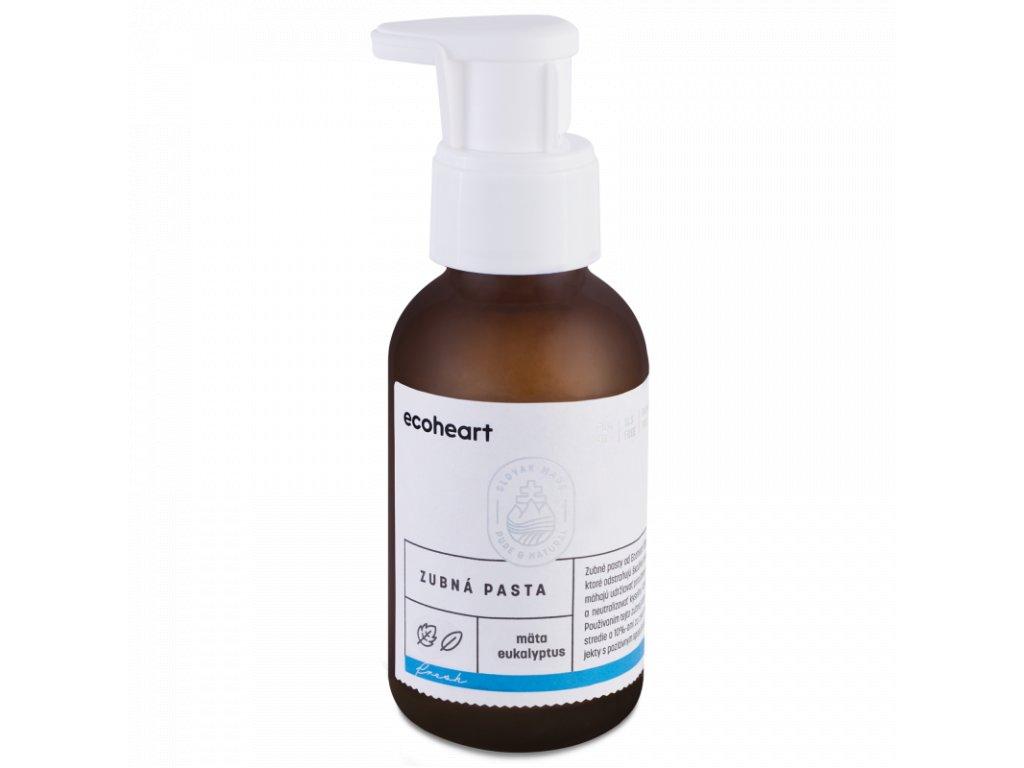 Ecoheart - Zubní pasta ve skleněné láhvi Máta a eukalyptus (100 ml)