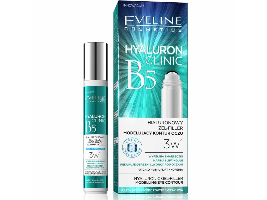 Eveline cosmetics Hyaluron Clinic Liftingující oční roll-on