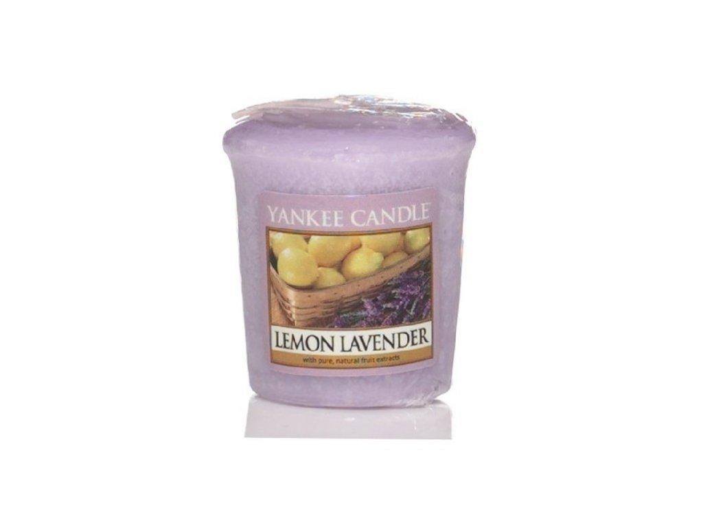 Yankee candle - Vonná svíčka votivní LEMON LAVENDER