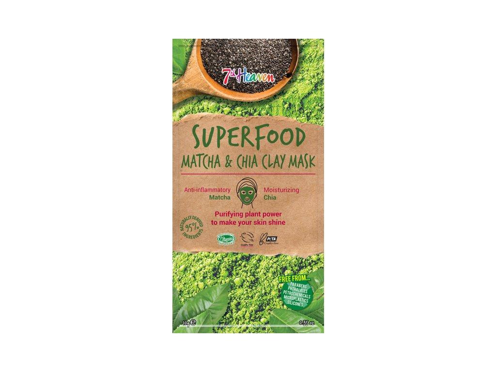7th Heaven - Superfood Jílová maska Matcha & chia 10g