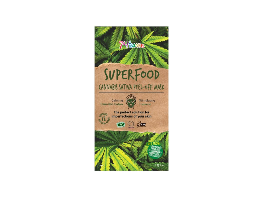 7th Heaven - Superfood Slupovací maska Cannabis sativa 10ml