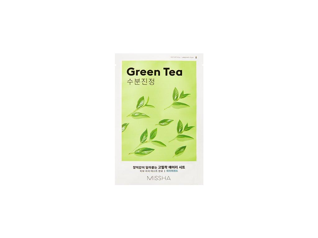 Missha - Airy Fit Plátýnková maska s výtažkem ze zeleného čaje