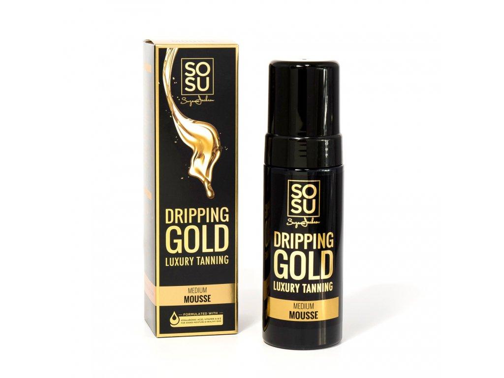 SOSU - Dripping Gold Luxusní samoopalovací pěna MEDIUM