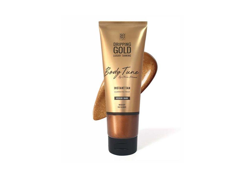 SOSU - Dripping Gold Luxusní samoopalovací mléko Body Tune s okamžitým efektem MEDIUM-DARK