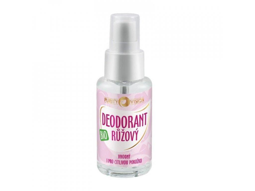 Purity Vision - Růžový Deodorant BIO 50 ml