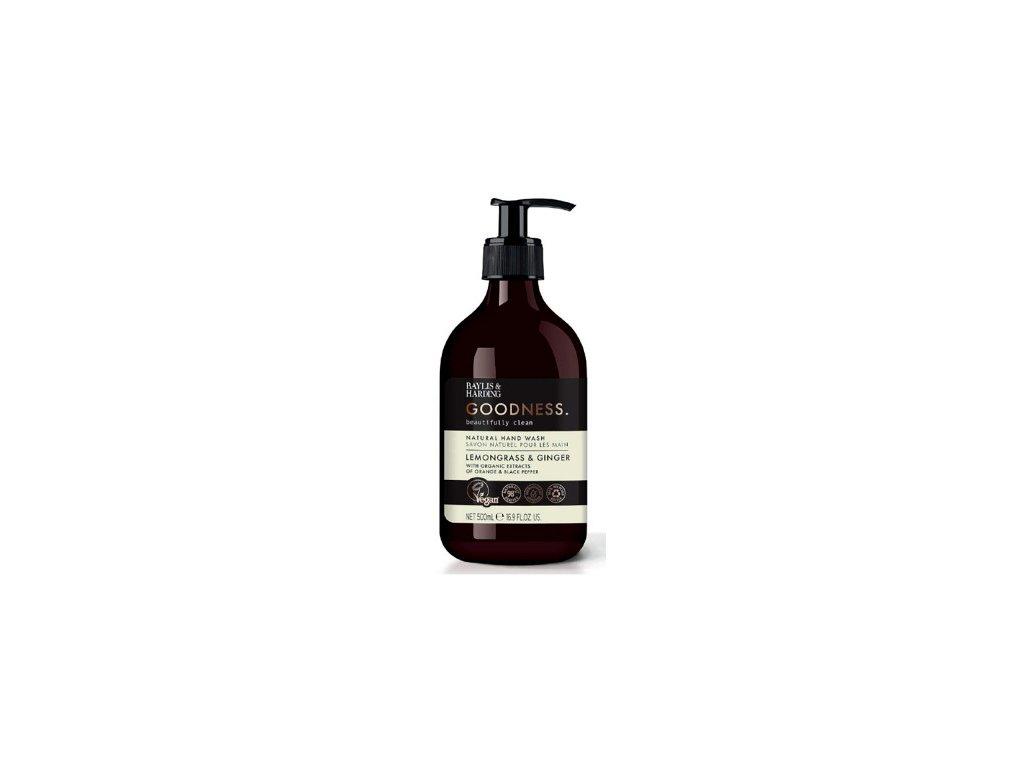 Baylis & Harding - Přírodní  Tekuté mýdlo na ruce - Lemongrass & Ginger, 500ml