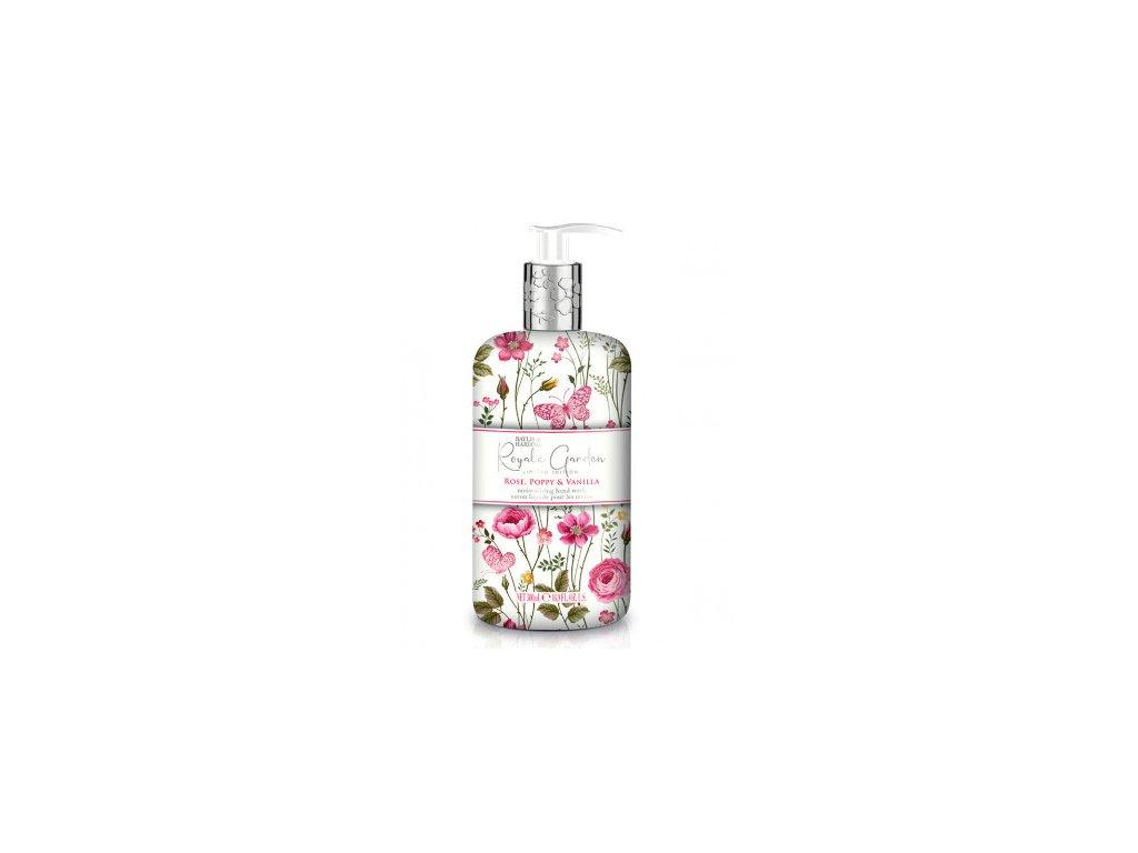 Baylis & Harding - Luxusní tekuté mýdlo na ruce - Rose, Poppy & Vanilla, 500ml