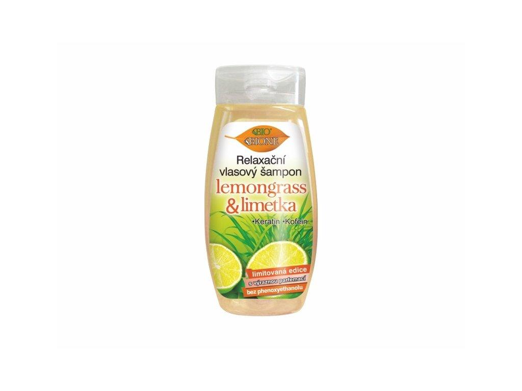 BIONE COSMETICS - LEMONGRASS & LIMETKA Relaxační vlasový šampon 260 ml