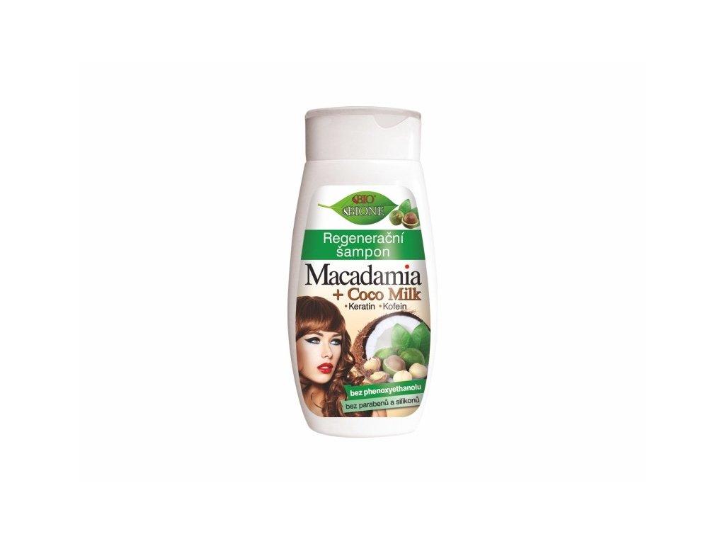 BIONE COSMETICS MACADAMIA + COCO MILK Regenerační vlasový šampon 260 ml