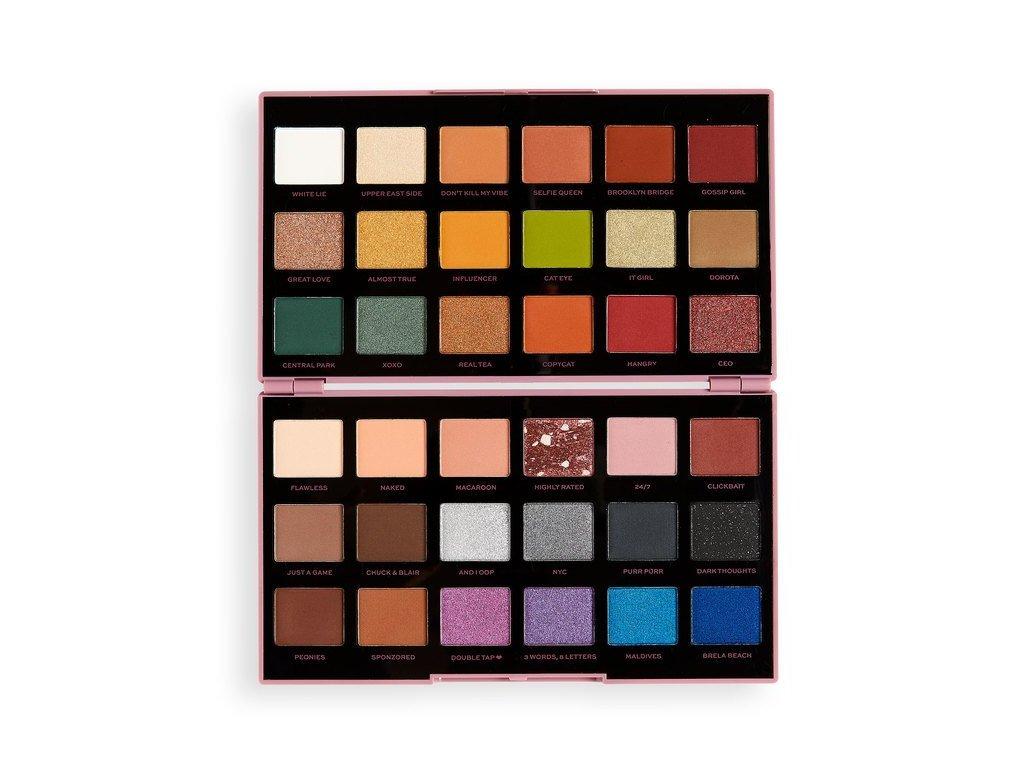 Makeup Revolution - Paletka 36 očních stínů by Petra XOXO  + ZDARMA Paletka stínů True Glamour