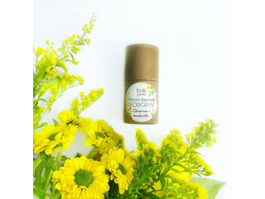 Biorythme - 100% přírodní BEZSODÝ deodorant Citronová meduňka v papírovém obalu 30g