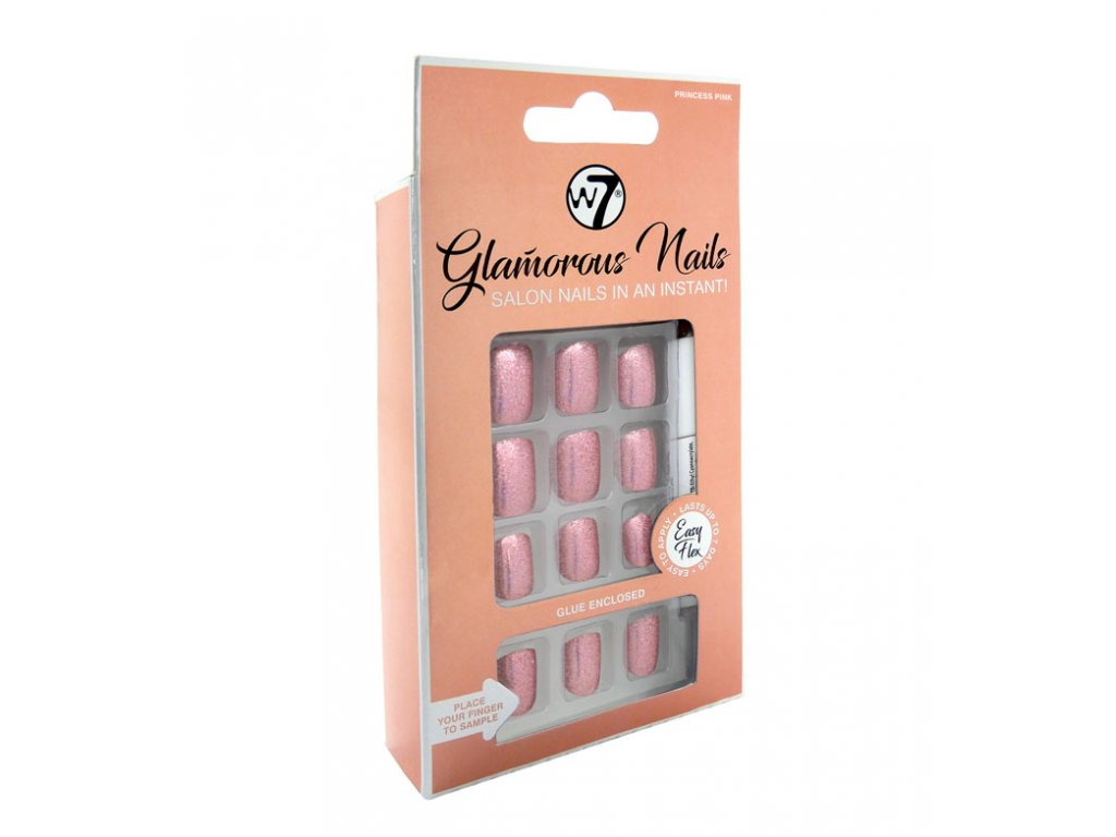 W7 - Nalepovací nehty Glamorous Nails Princess Pink