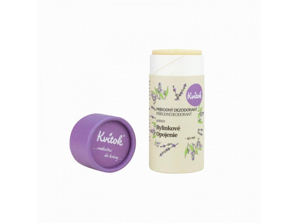 Kvítok - Tuhý deodorant Bylinkové opojení (42 ml)