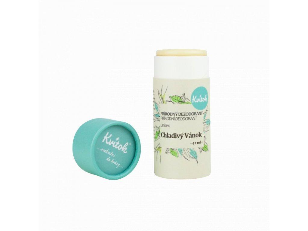 Kvítok - Tuhý deodorant Chladivý vánek (42 ml)Chladivy vanok