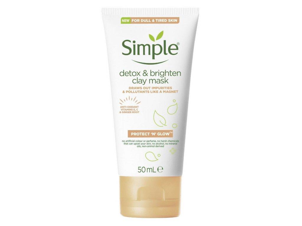 Simple - Detox & Brighten bahenní maska na obličej 50ml