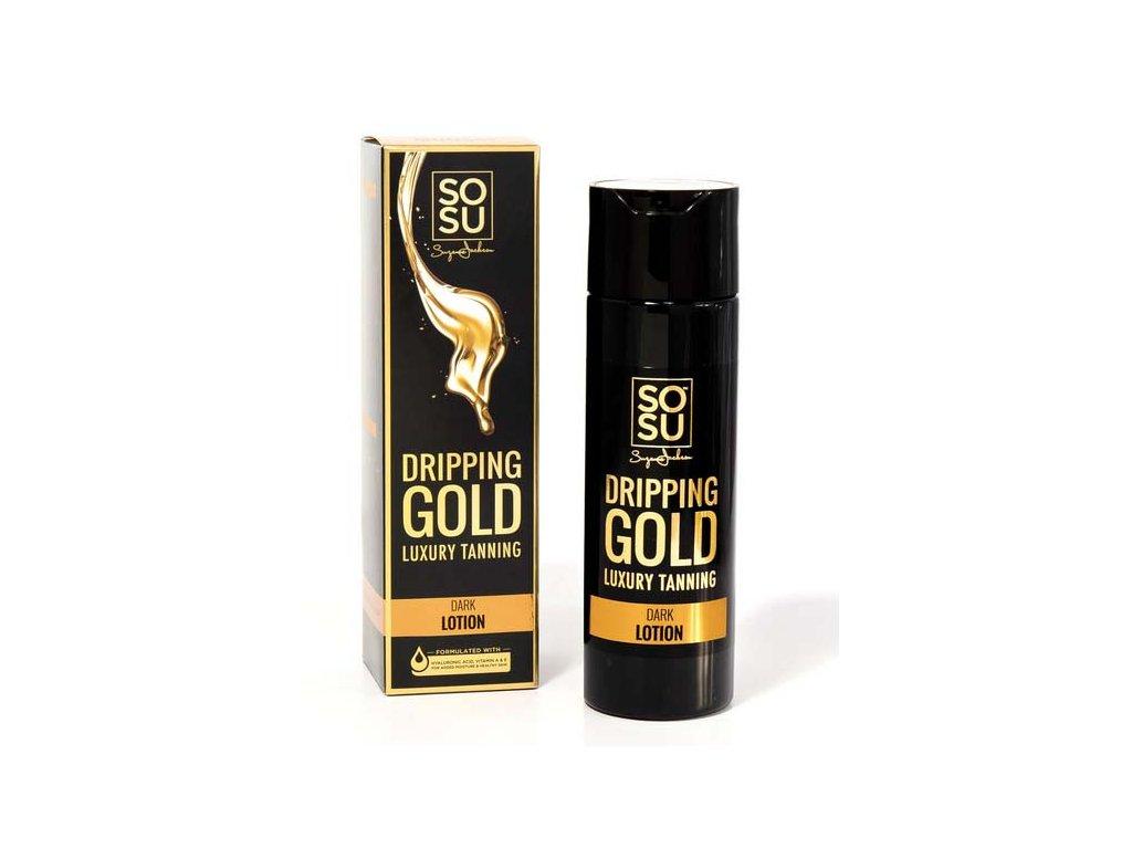 SOSU - Dripping Gold Luxusní samoopalovací mléko DARK