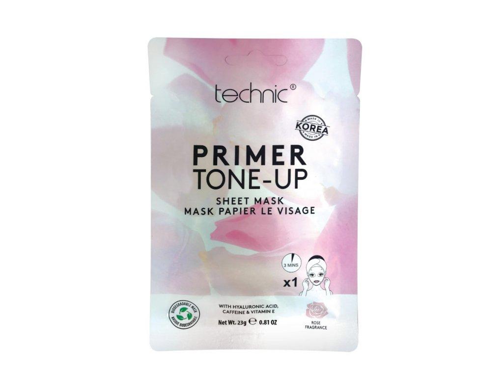 Technic - Plátýnková maska TONE UP! před aplikací make-upu