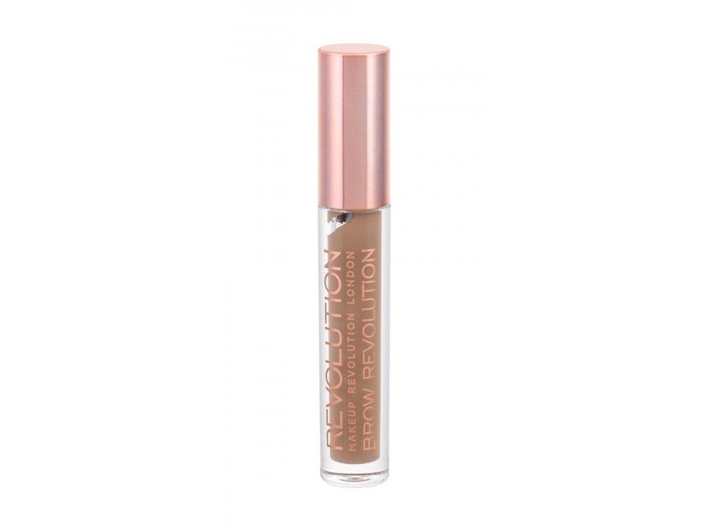 Makeup Revolution - fixační gel na obočí Brow Soft Brown